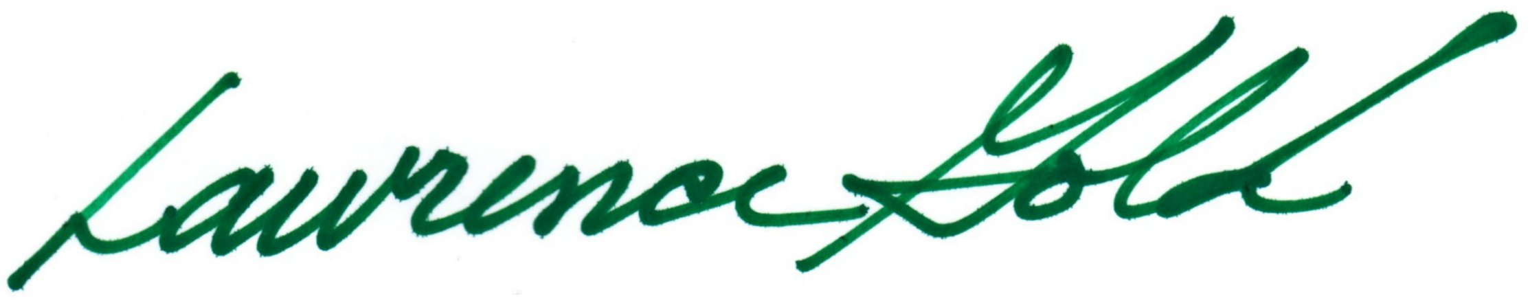 Lawrence Gold's signature